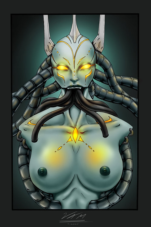 Hive Mind Lithograph by Vincent A. May