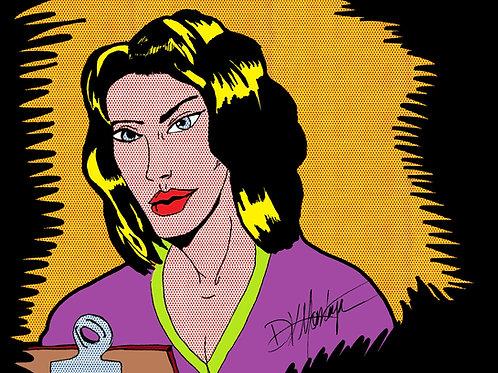 """Nurse Tribute to Roy Lichtenstein's """"Nurse"""" by David K. Montoya"""