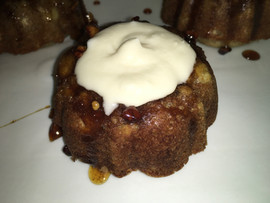 Banana Nut Honey Rum Mini Bundt Cake