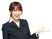 a portrait of asian business woman isola