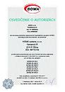 Certifikát BOWA DATECS pre KODAS systems