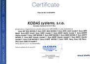 Certifikát ELCOM pre KODAS systems