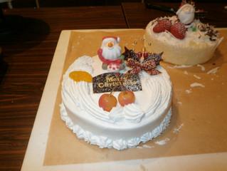 蔵でクリスマスケーキ