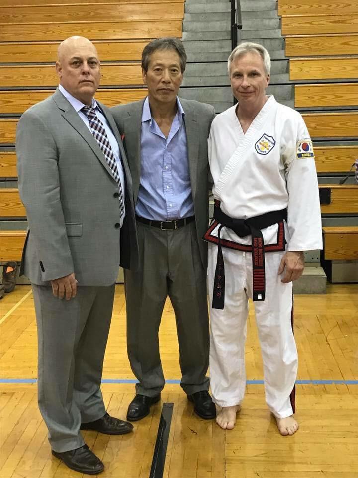 Grand Master Giambi, Grand Master Young Bo Kong, and Grand Master McCloskey
