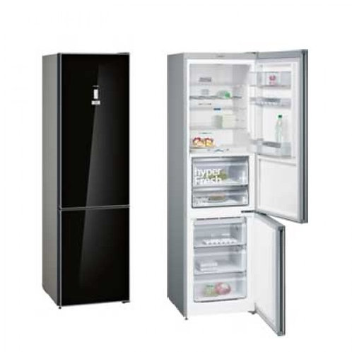 Siemens KG39FSB45 black glass iQ700 freestanding frost free fridge freezer