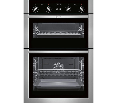 Neff U14M42N5GB Built In Double Oven in Stainless Steel