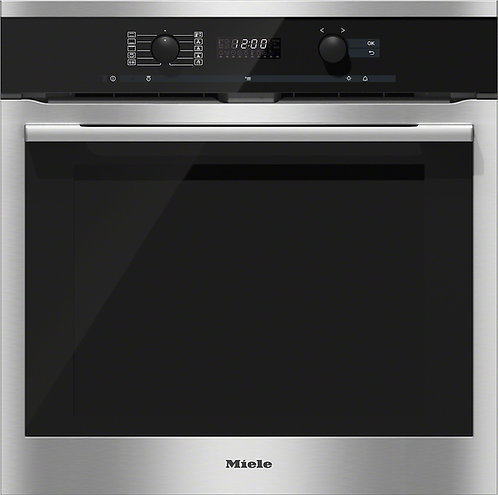 Miele ContourLine H6160BP 60cm Built-In Single Electric Oven in Clean Steel