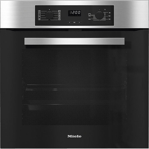 Miele H2267BP Built-In Single Pyrolytic Electric Oven in Clean Steel