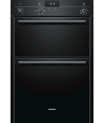 SIEMENS iQ100 HB13MB621B Electric Double Oven - Black
