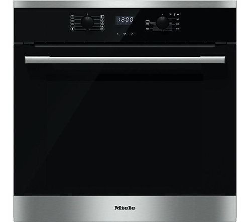 Miele H2561B Built-In Single Electric Oven in Clean Steel