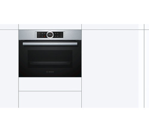 BOSCH Serie 8 CBG675BS1B Compact Electric Oven - Stainless Steel