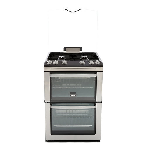 ZANUSSI ZCG669GX GAS COOKER WITH DOUBLE OVEN IN STAINLESS STEEL