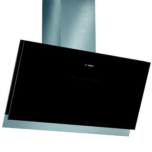 Bosch DWK098G61B Chimney Cooker Hood, Black Glass
