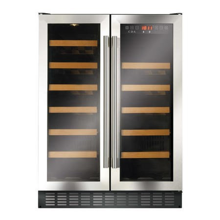 CDA FWC624 60cm Double Door Wine Cooler