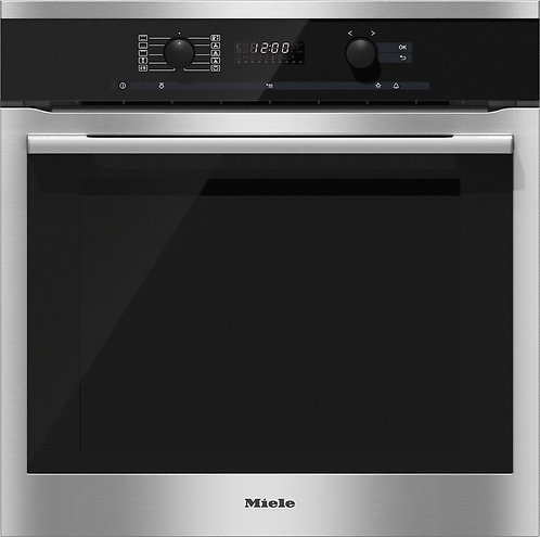 Miele ContourLine H6160B Built In Multifunction Fan Oven in Clean Steel