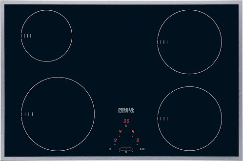 Miele KM6118 80cm Induction Hob with Stainless Steel Trim