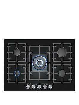 Bosch PPQ716B91E Avantixx Glass Base 71cm Gas Hob in Black