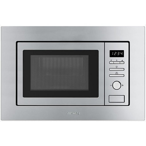 Smeg FMI017X Built In Microwave with Grill