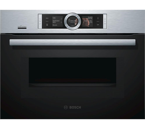 Bosch CMG656BS6B Serie 8 compact combination microwave oven