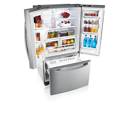 Samsung RFG23UERS French Style 3 Door Fridge Freezer Ice & Water