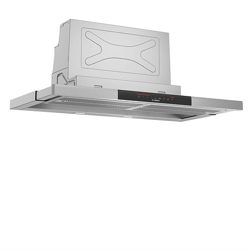 Bosch DFS097J50B Series 8 90cm Telescopic Cooker Hood Brushed Steel