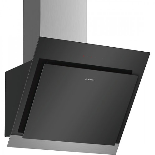Bosch DWK67HM60B 60cm Wide Chimney Extractor Hood Angled Glass - Black