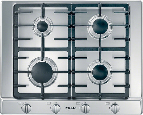Miele KM2010 65cm 4 Burner Gas Hob in Stainless Steel