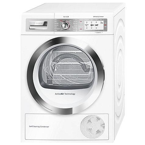 Bosch WTYH6790GB white Serie 8 freestanding condenser tumble dryer
