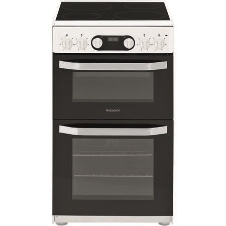 Hotpoint HD5V93CCW/UK Electric Cooker with Double Oven