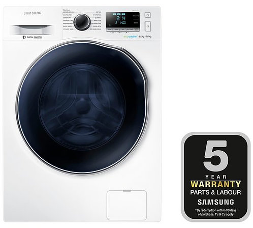 Samsung WD90J6A10AW  WD6000 CrystalBlue  1400 Spin 9kg+6kg Washer Dryer