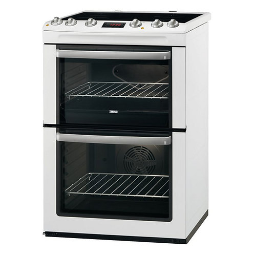 Zanussi ZCV665MWC Ceramic Electric Cooker with Double Oven