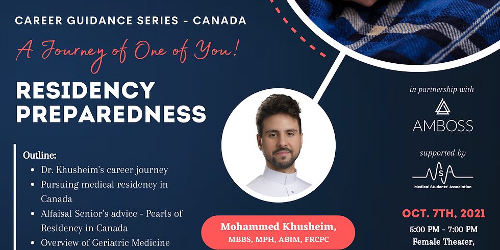 A Journey of One of You! Residency Preparedness
