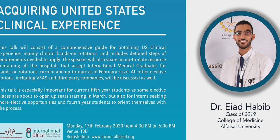 Acquiring United States Clinical Experience