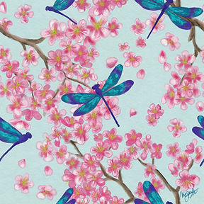Dragonfly_Cherry_Blossom_Texture_Signed.