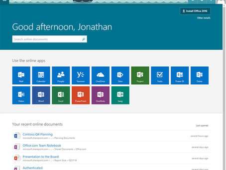 Introducing a new home page experience for Office 365 users
