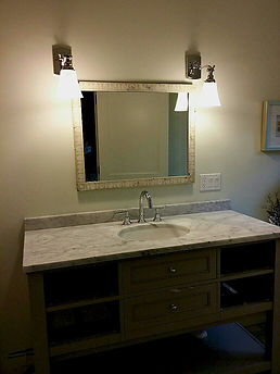 Bianco Carrara Honed Marble Vanity Top
