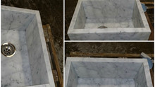 Custom Stone Slab Sinks