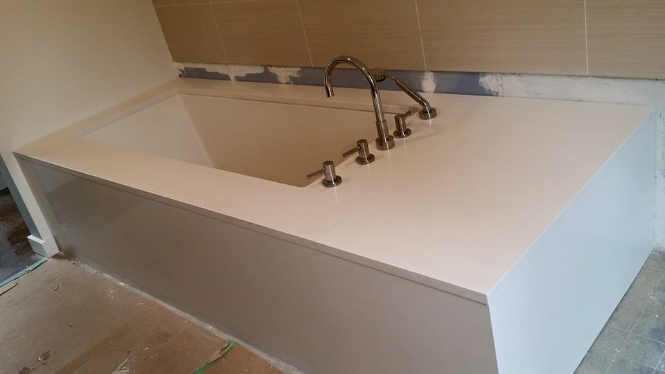 Sleek Modern Caesarstone Tub