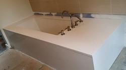 Sleek Modern Caesarstone Tub