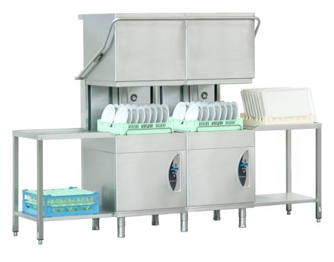 Lave-vaisselle à double capot