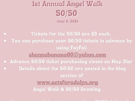Angel Walk & 50/50 Drawing Details