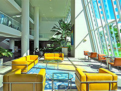 Hawaiki Tower, Lobby, Designer, Beautiful, Open, Spacious, Inviting, Comfortable