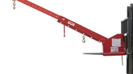 Guindaste montado nos garfos - telescópica, altura ajustável