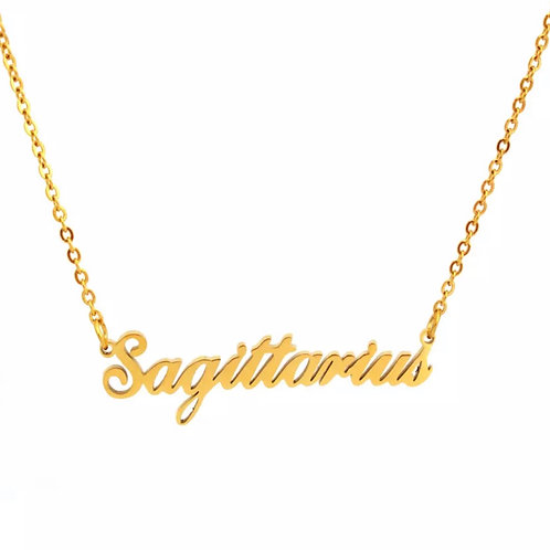 (Available for Pre-Order) Sagittarius Zodiac Necklace - Gold