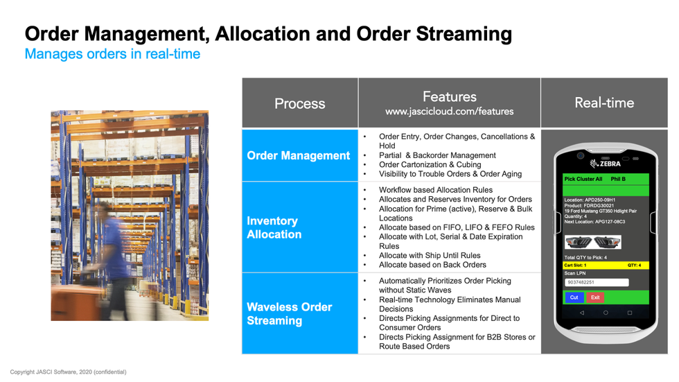 JASCI Order Management Allocation and Or