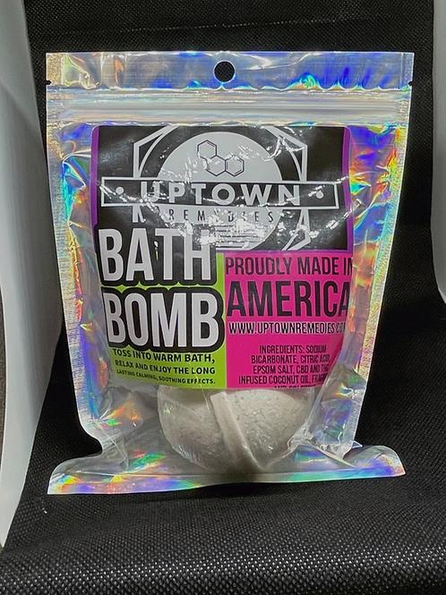 Sweet Pea CBD bath bomb
