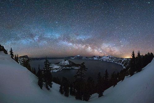 "Crater Lake Milky Way 24""x 36"""