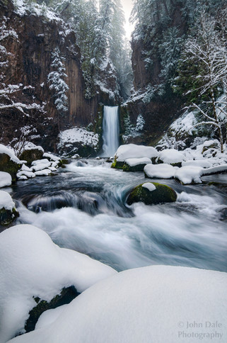 Toketee Falls Snow
