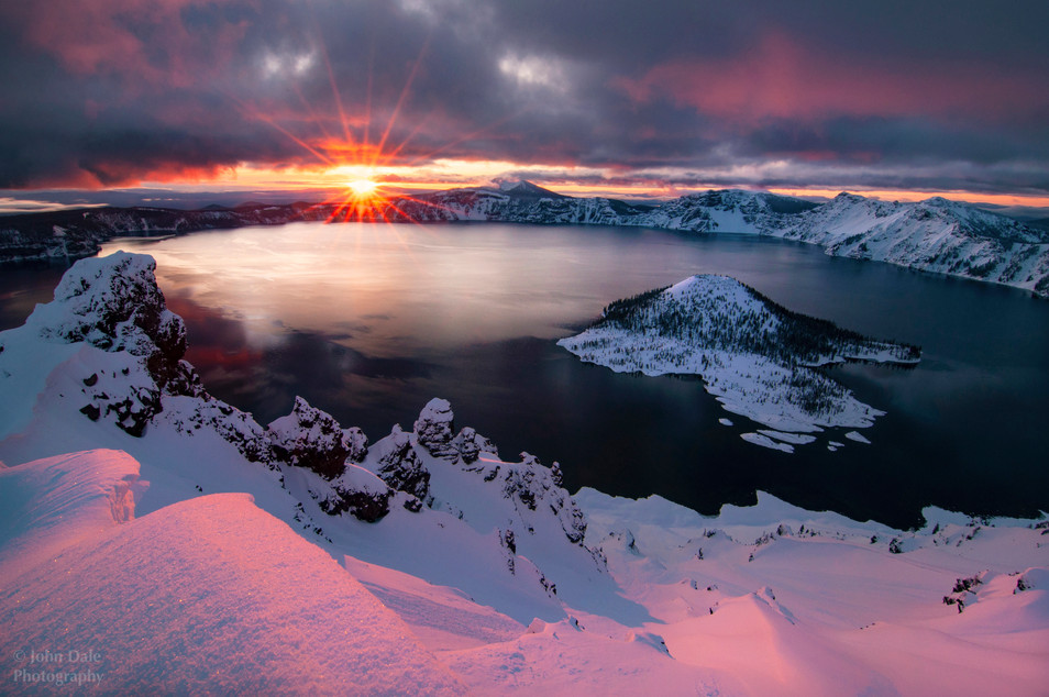 Crater lake in Pink