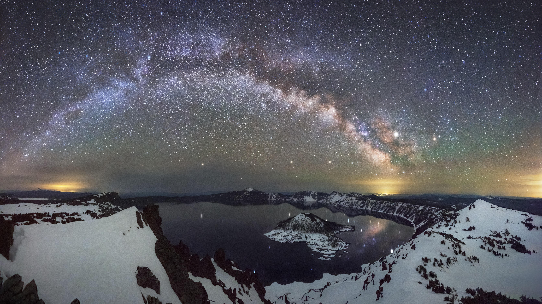 Crater Lake at Night